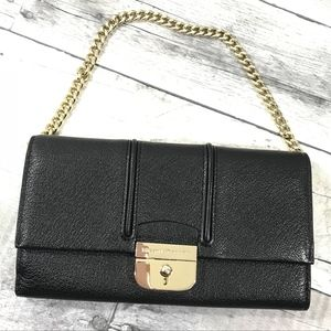 Kate spade small black leather bag